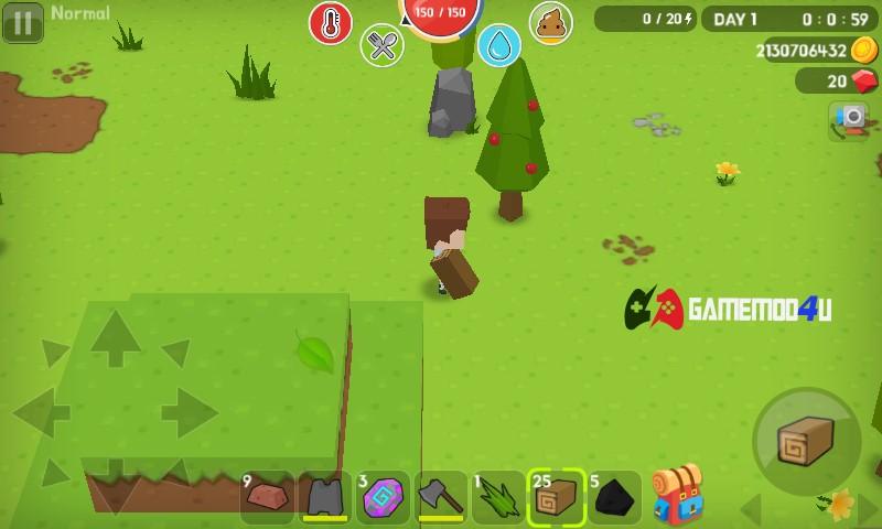 Hình ảnh trong game sinh tồn Mine Survival mod full tiền