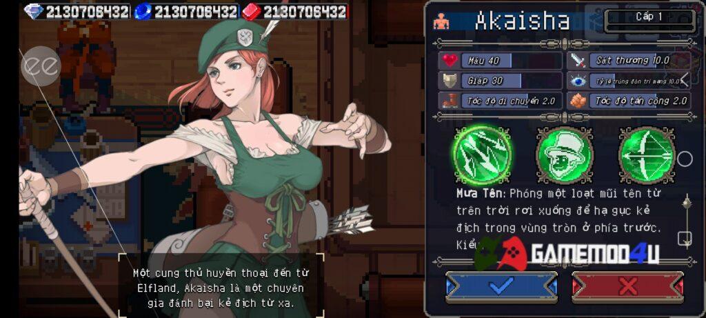 Mỗi nhân vật sẽ có những kỹ năng riêng biệt trong Otherworld Legends mod apk