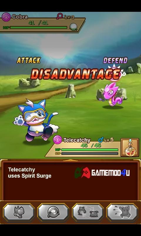 Thể loại chiến đấu và thu phục các loại pet trong game Bulu Monster mod