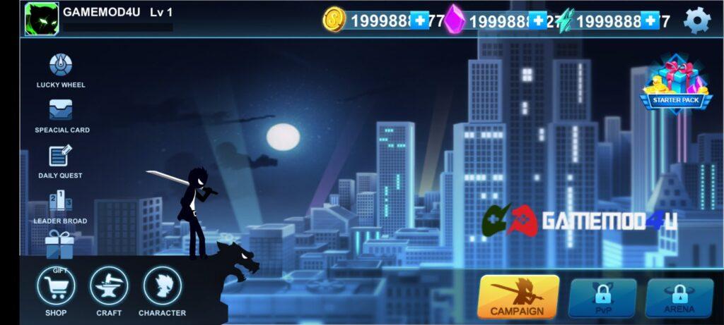 Đã chơi thử trò chơi Stickman Mafia Online mod full tiền