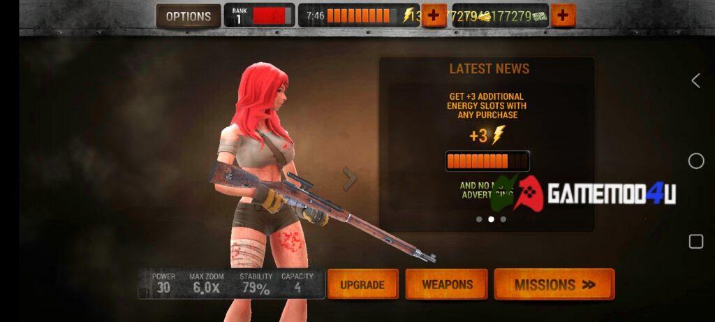 Đã chơi thử Zombie Hunter Sniper mod full tiền