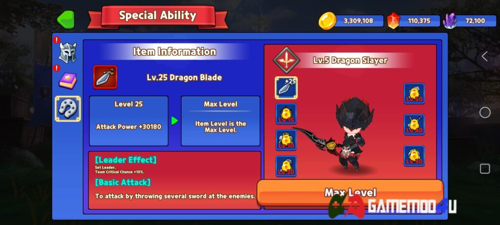 Nhân vật trong game Eternal Hunter mod full tiền