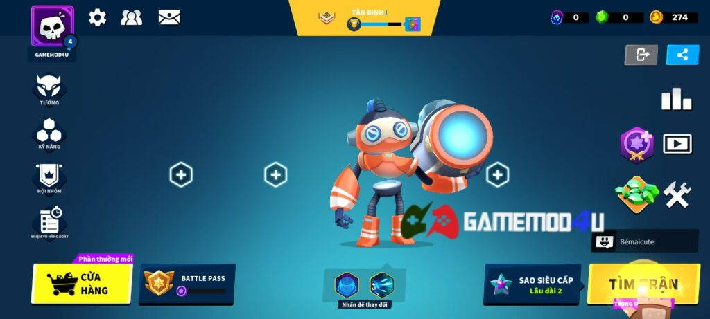 Đã test tựa game Heroes Strike mod full tiền