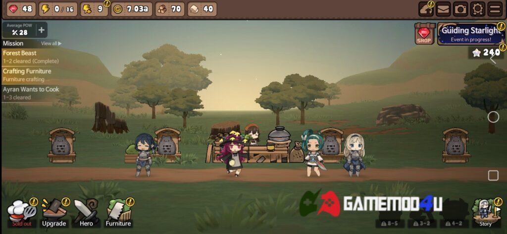 Hình ảnh trong game Bistro Heroes mod full tiền