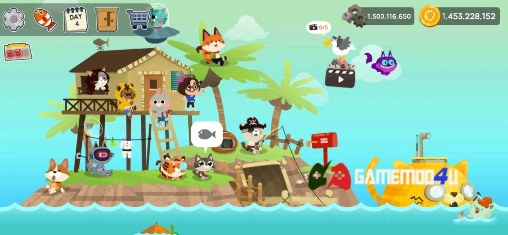 Đã test game The Fishercat mod full tiền