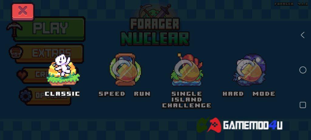 Có nhiều chế độ chơi khác nhau trong Forager mod apk full