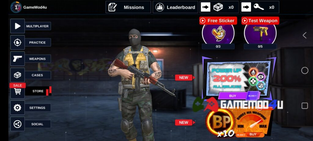 Đã test Counter Attack Multiplayer FPS mod full