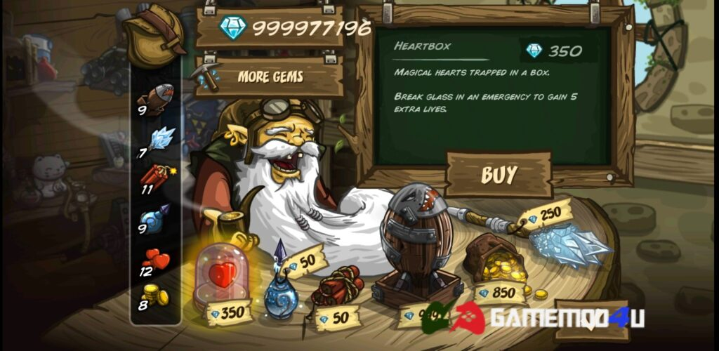 Cửa hàng trong game Kingdom Rush Frontiers mod full tiền
