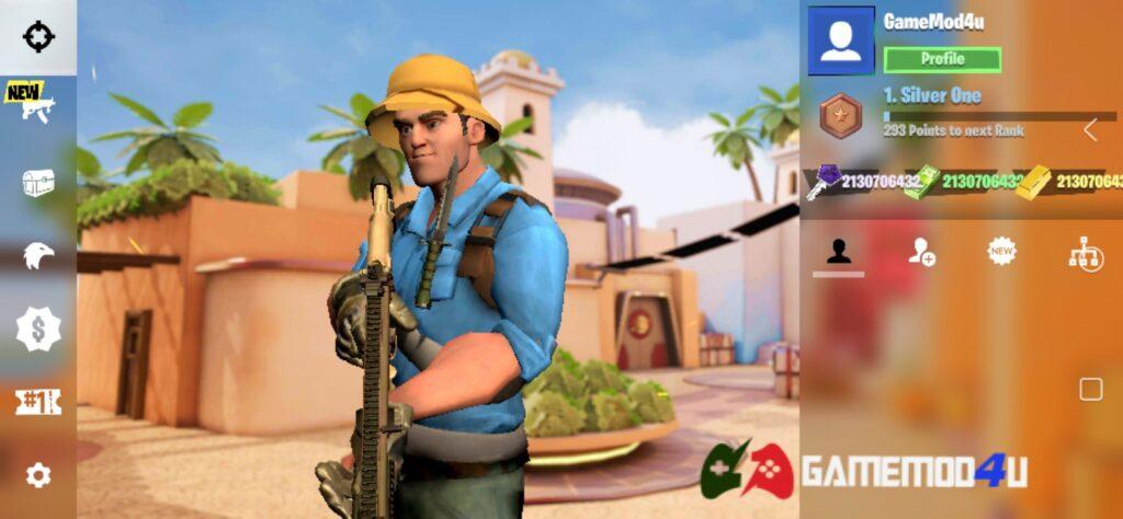 Đã test tựa game Action Strike Heroes mod full tiền