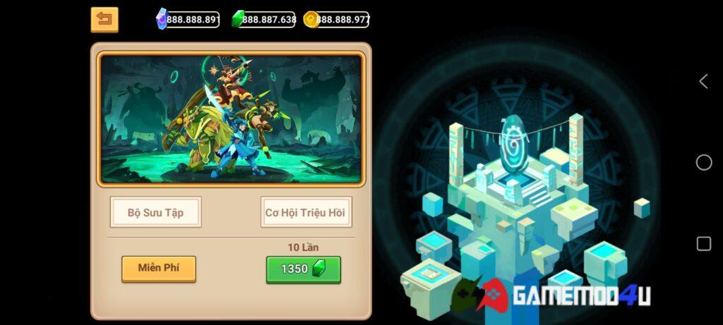 Game Epic Knights Legend Guardians mod full tiền có nhiều tính năng thú vị