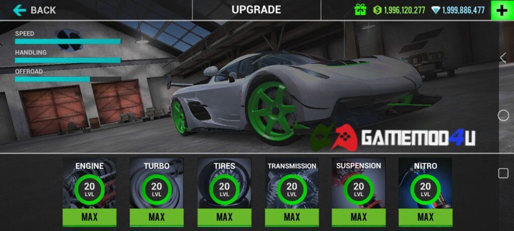 Game Ultimate Car Driving Simulator mod full tiền có tính năng nâng cấp thú vị