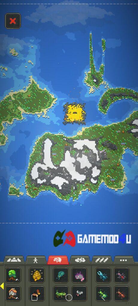 Hình ảnh trong game WorldBox mod apk full (đã mở khóa toàn bộ)