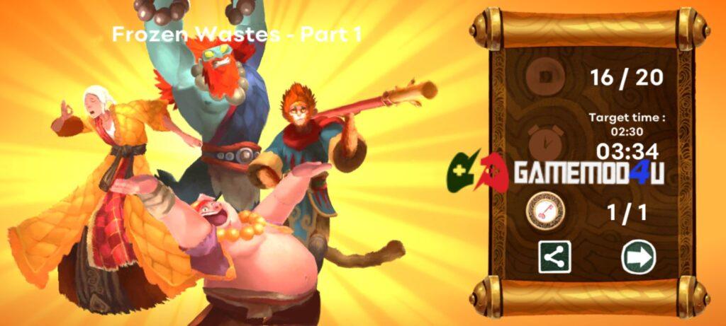 Nhiều thử thách hấp dẫn trong game Unruly Heroes mod apk