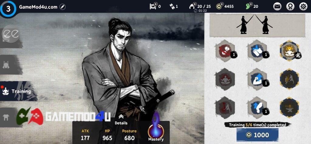 Trò chơi Ronin The Last Samurai mod menu có nhiều tính năng hấp dẫn