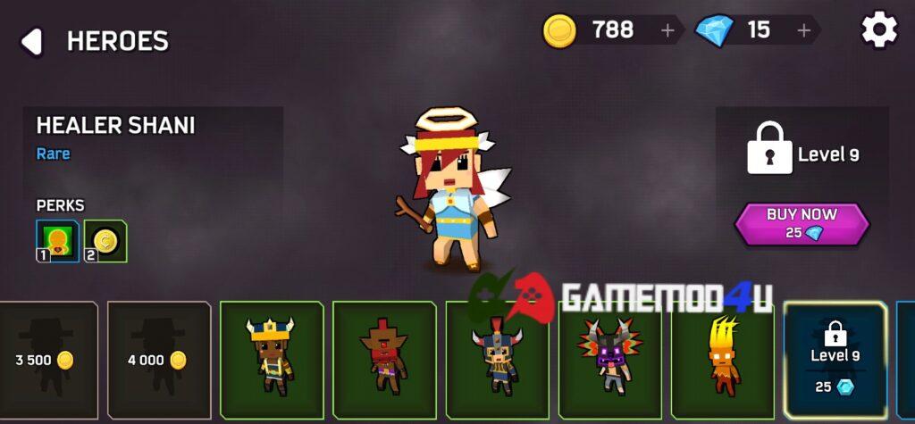 Có nhiều nhân vật khác nhau trong Magica.io mod full tiền (mua sắm miễn phí)