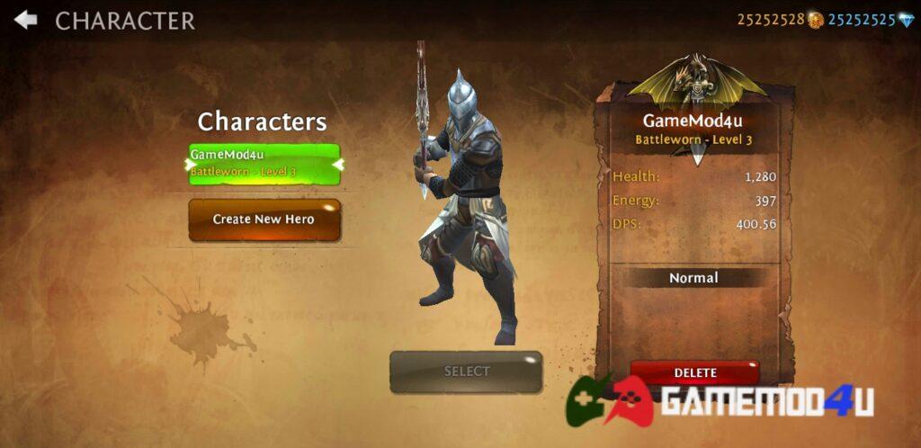 Đã test game Dungeon Hunter 4 mod full tiền