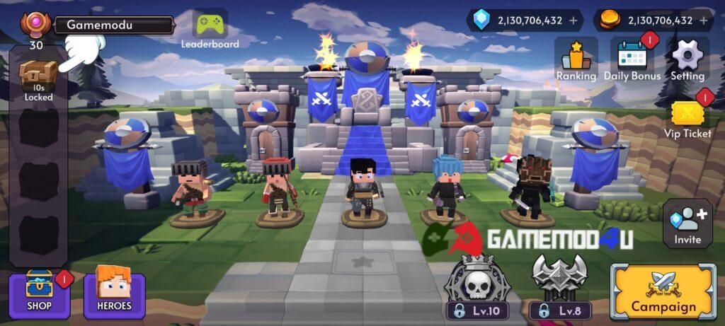 Đã test tựa game Blok Warriors mod full tiền