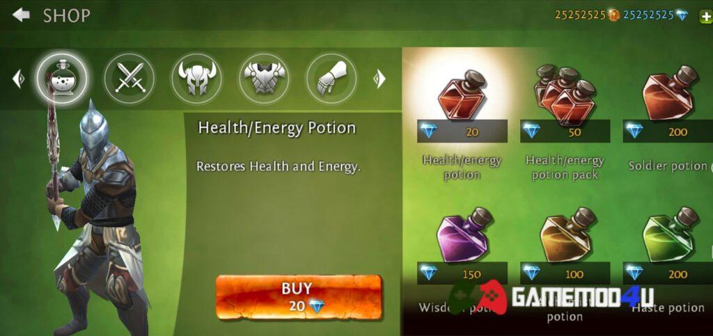 Game Dungeon Hunter 4 mod full tiền có nhiều vật phẩm thú vị
