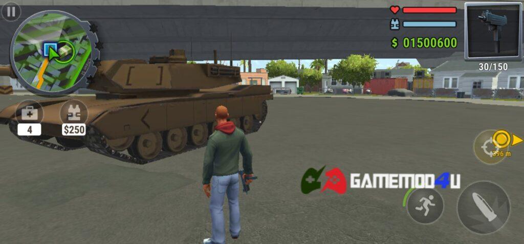 Hình ảnh trong game Gangs Town Story mod apk full tiền
