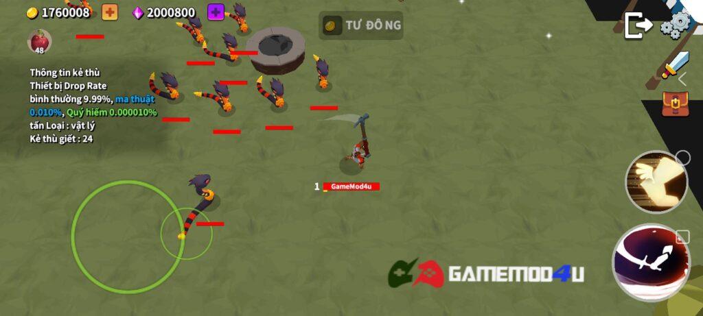 Hình ảnh trong game Grow Titan.io mod full tiền