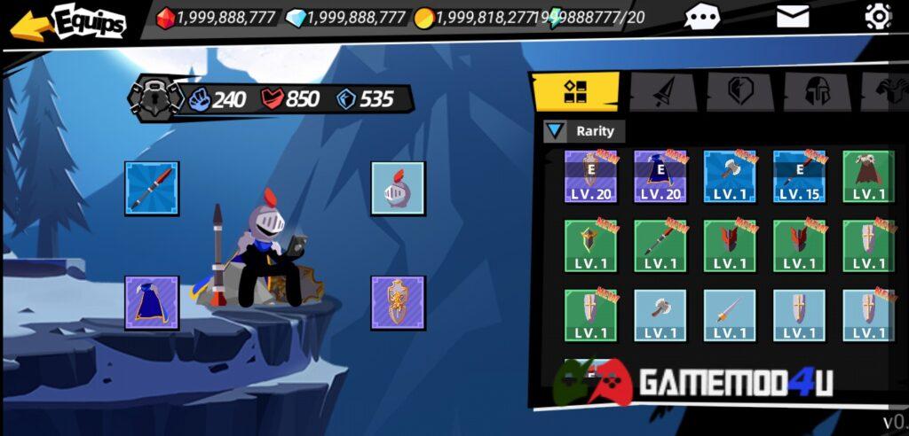 Nhân vật trong game Stickman Master II mod full tiền