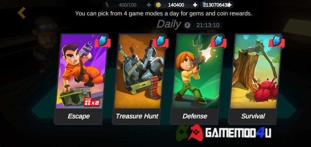 Nhiều chế độ chơi thú vị hấp dẫn trong Strange World mod full tiền