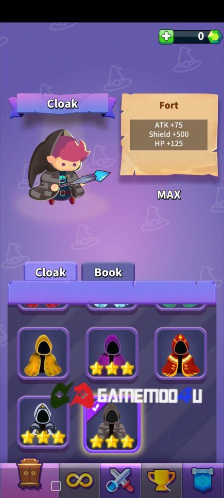 Tính năng mua sắm miễn phí trang bị trong Wizard Legend mod full tiền (mua sắm miễn phí)