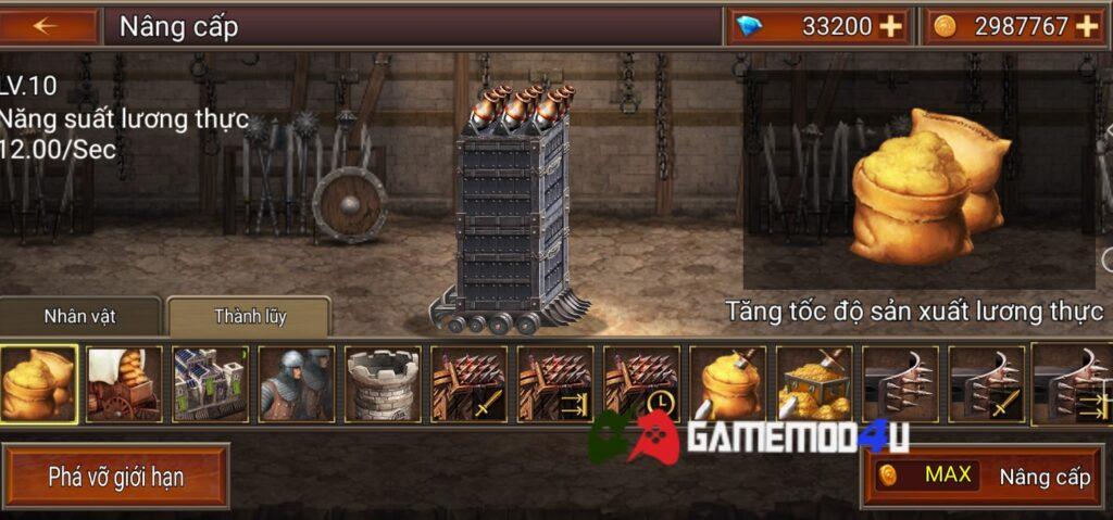 Đa dạng các tính năng trong Battle Seven Kingdoms mod full tiền