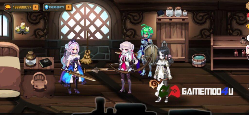 Đã test tựa game Rogue-like Princess mod full tiền