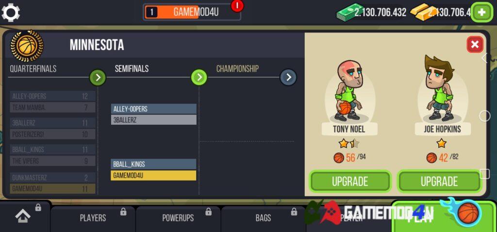 Game Basketball Battle mod full tiền có nhiều tính năng thú vị