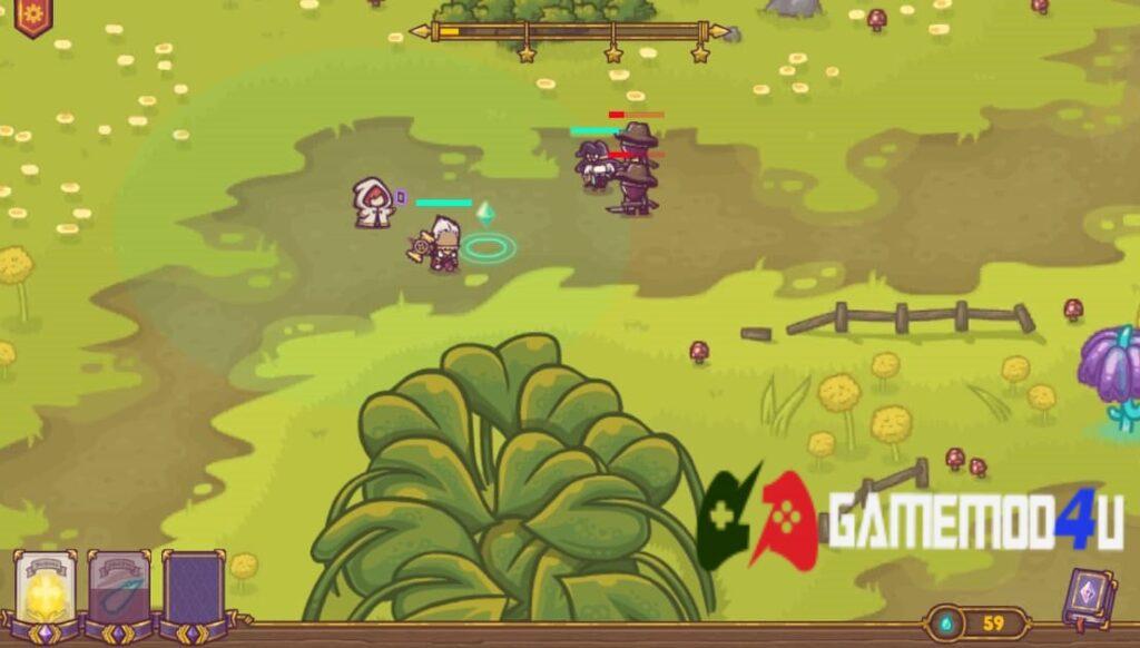 Gameplay của trò chơi Tiny Guardians Mod