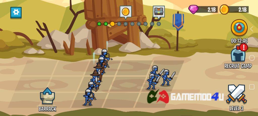 Đã test Stick Battle War of Legions mod full tiền