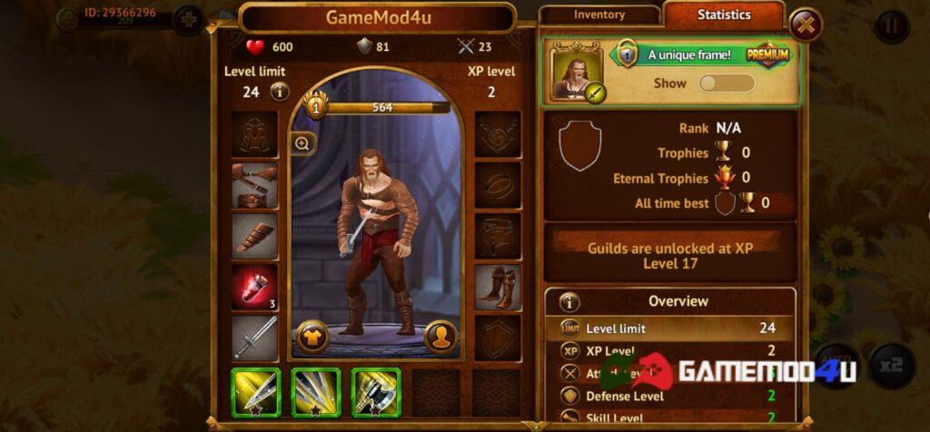 Đã test tựa game Guild of Heroes mod full tiền (mua sắm miễn phí)