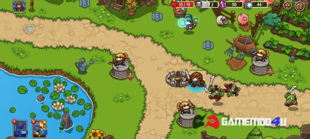 Hình ảnh trong game Crazy Defense Heroes