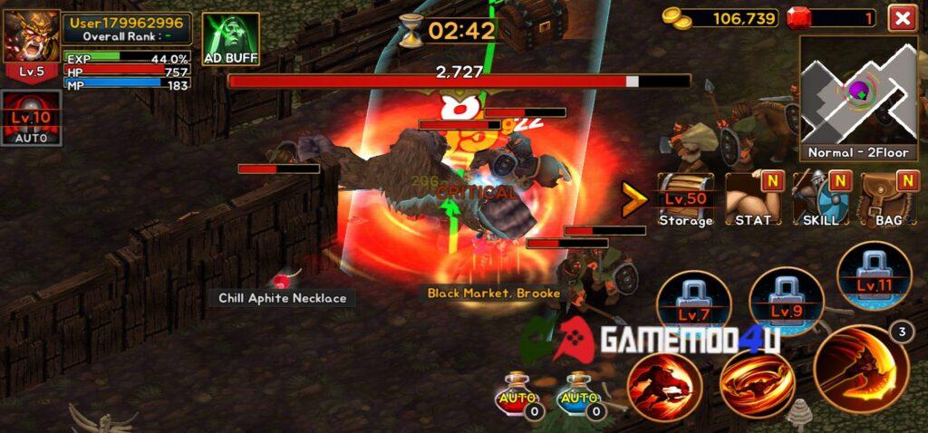 Hình ảnh trong game Death Dungeon mod full tiền