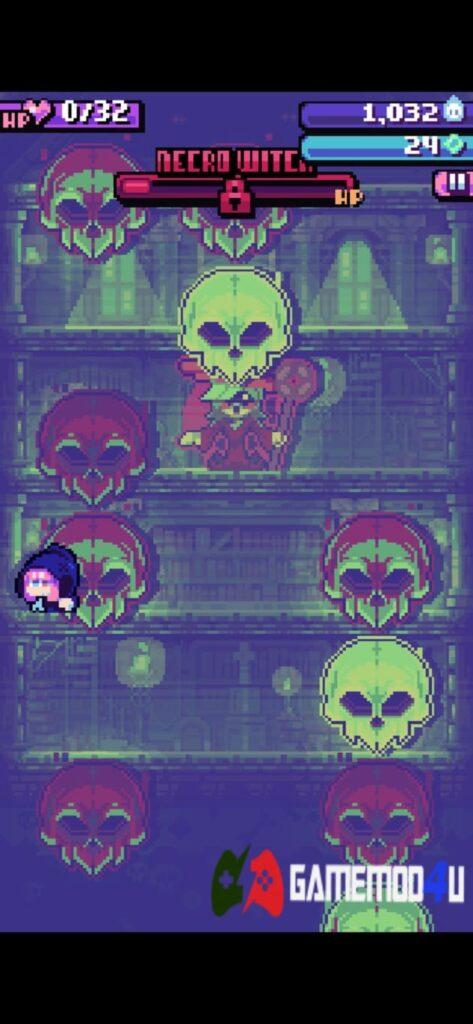 Màn đấu trùm trong game Candies 'n Curses mod full tiền (mua sắm miễn phí)