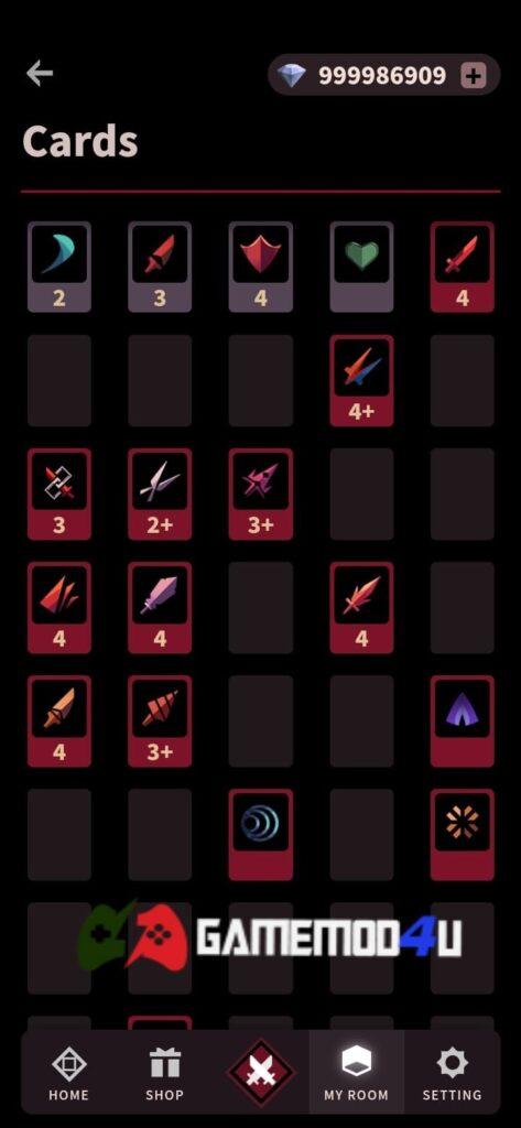 Một số thẻ bài trong game Phantom Rose Scarlet