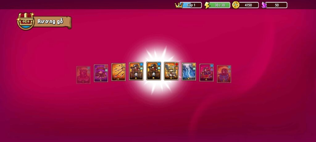 Nhiều thẻ bài hấp dẫn trong game chiến thuật