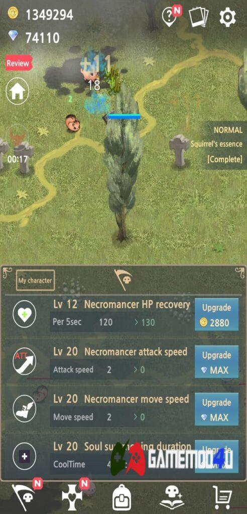 Nâng cấp trong Necromancer Mod