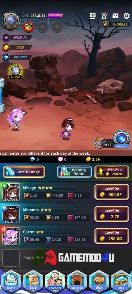 Hình ảnh trong game Abyss Rebirth Phantom mod full tiề