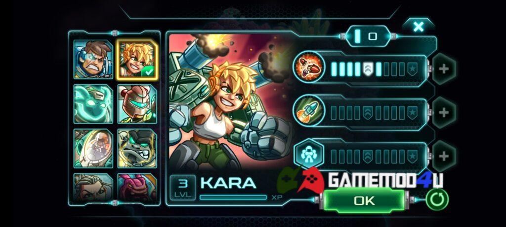 Nhân vật trong game Iron Marines mod full tiền được mở khóa full