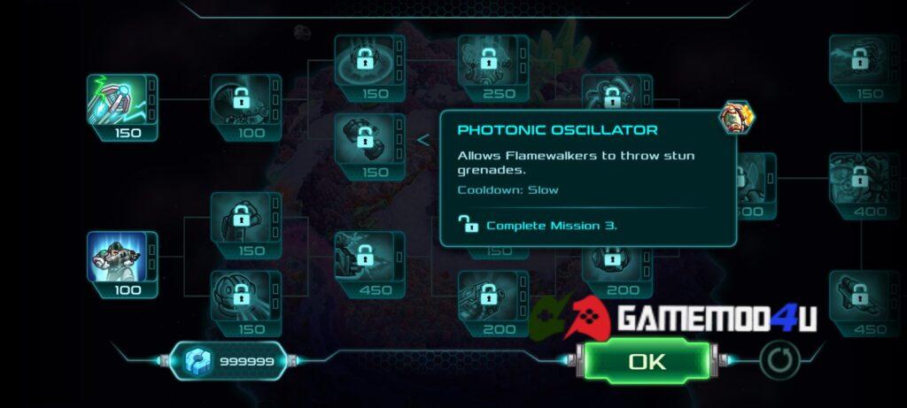 Nhiều tính năng thú vị hấp dẫn có trong game Iron Marines mod full tiền