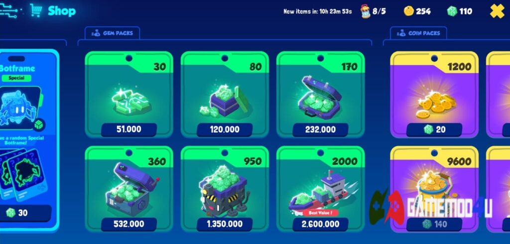 Mod mua đồ bằng tiền mặt miễn phí trong game