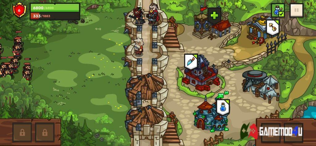 Chiến đấu trong Towerwall Mod
