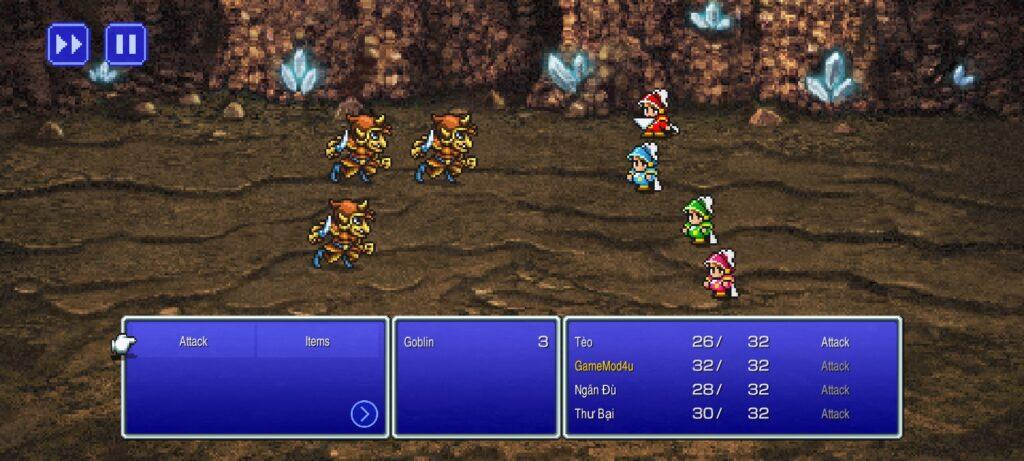 Chiến đấu với nhiều loại quái vật hấp dẫn trong FINAL FANTASY III mod