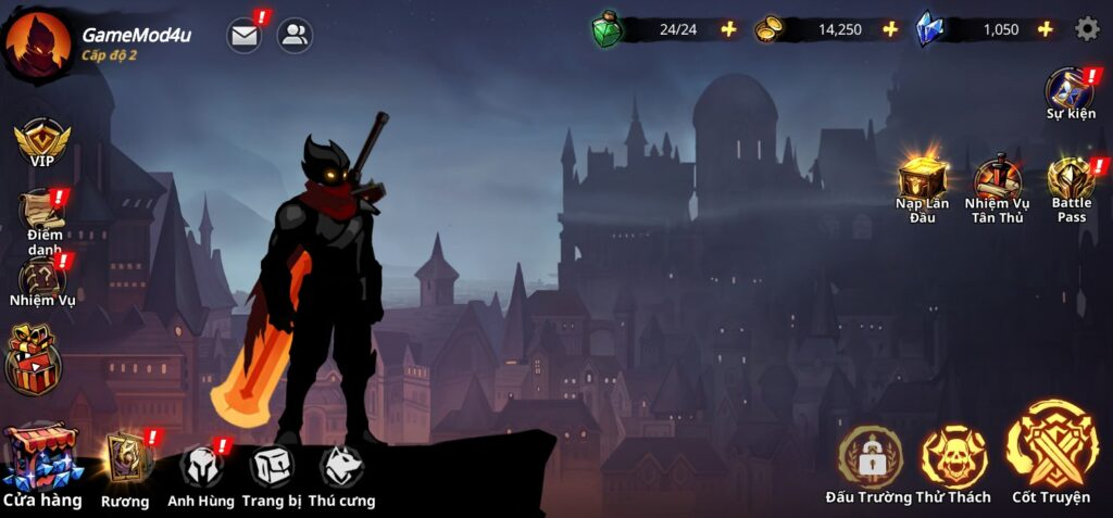 Đã test game Shadow Knight mod apk full
