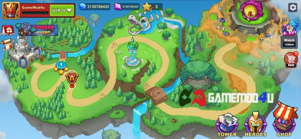 Đã test tựa game King of Defense 2 mod full tiền