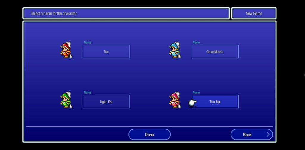 Game có nhiều nhân vật thể loại rpg