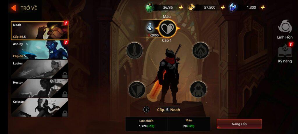 Hero đa dạng trong game