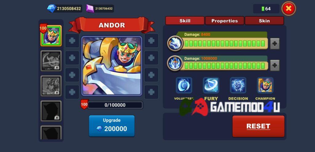 Hero trong game King of Defense 2 mod full tiền